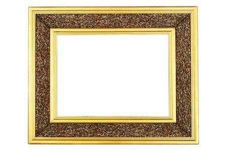 Blank frame close-up isolated over white background photo