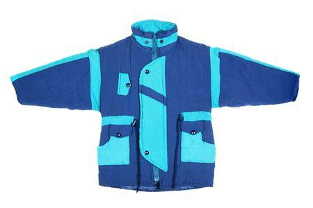 children's wear: Childrens wear - winter jacket isolated over white background Stock Photo