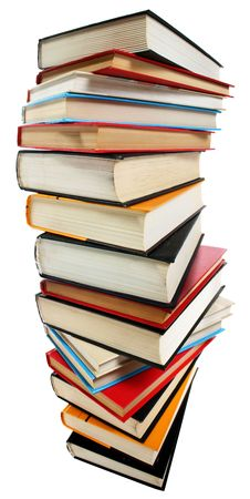 Stack of books isolated over white Stock Photo - 3620132