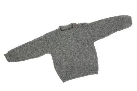 children's wear: Childrens wear - sweater isolated over white background
