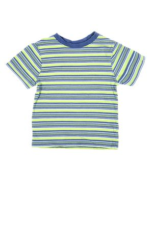 children's wear: Childrens wear - striped shirt isolated over white background Stock Photo