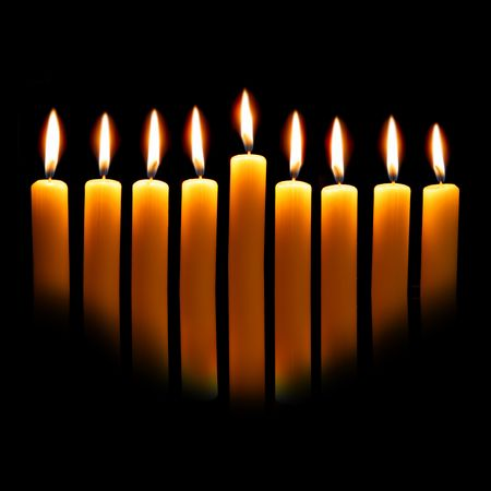 Hanukkah candles over black background with space for your text Stock Photo - 3682319