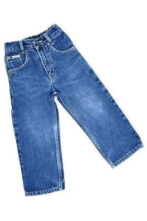children's wear: Childrens wear - jeans isolated over white background