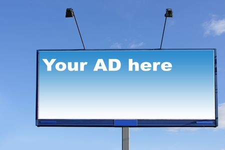 Blank billboard over blue sky, put your own text here Stock Photo - 3761795
