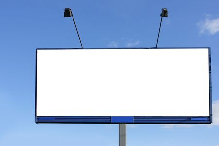Blank billboard over blue sky, put your own text here Stock Photo - 3796175