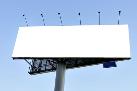 Blank big billboard over blue sky, put your own text here Stock Photo - 3796182