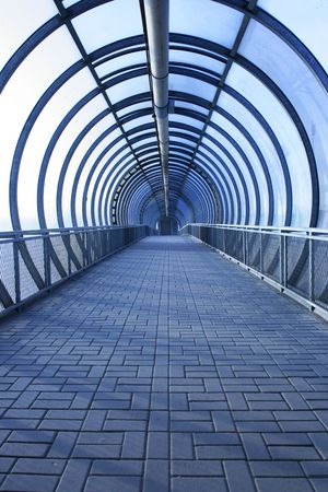 Perspective of the passage toned in blue colour Stock Photo - 3829741