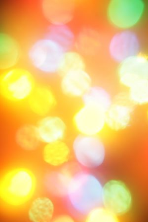 Colorful christmas lights out of focus, may be used as background photo