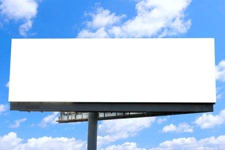 Blank billboard against blue sky, put your own text here Stock Photo - 3899216