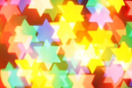 Colorful jewish stars, may be used as background photo