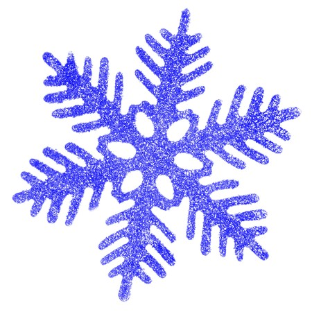 bedeck: Blue snowflake isolated over a white background Stock Photo