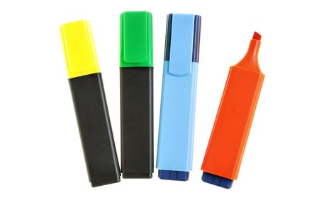 Markers isolated over a white background Stock Photo - 3985551