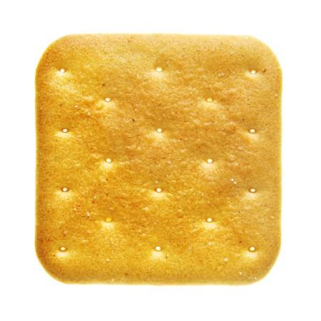 Cracker isolated over the white background photo
