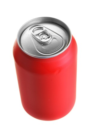 Red drink can isolated over white background Stock Photo - 4136900