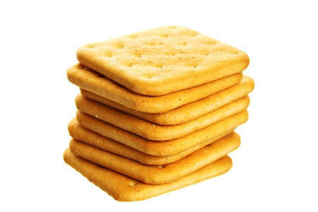 Stack of cookies isolated over the white background Stock Photo - 4136892
