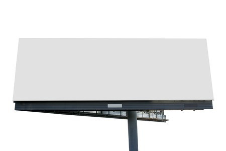 Blank billboard isolated over white background Stock Photo - 4209149