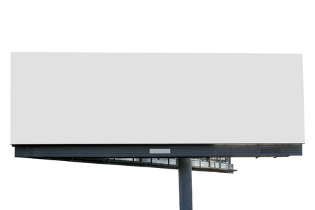 blank canvas: Blank billboard isolated over white background