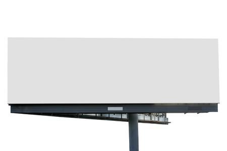 blank billboard: Leere Plakatwand �ber wei�en Hintergrund isoliert