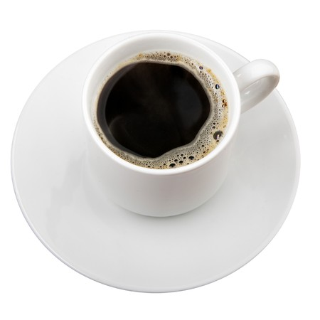 coffe break: Cup of coffee isolated over white background