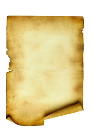 rouleau: Ancient manuscript isolated over a white background