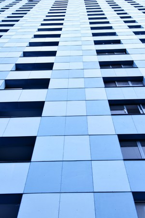 hypothec: Wall of modern apartment building