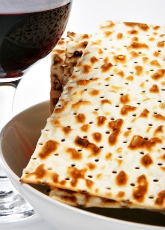 matzos: Wine and matzoh - elements of jewish passover supper