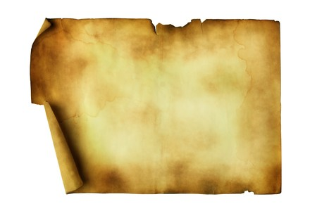 Ancient manuscript isolated over a white background photo