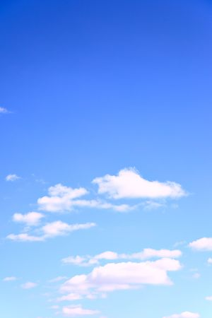 puffy: Blue sky and clouds, may be used as background