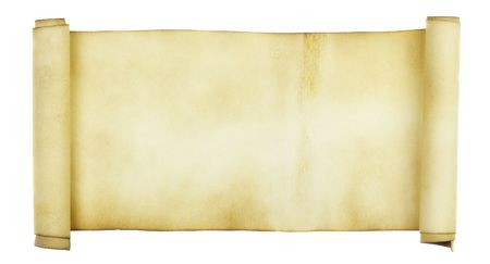 rouleau: Ancient scroll isolated over a white background Stock Photo