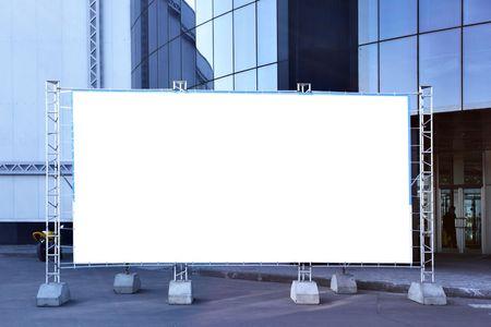 Blank fabric billboard on a street close up Stock Photo - 4702442
