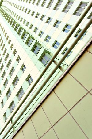 Wall of modern apartment many-storeyed building. Moscow. Russia. photo