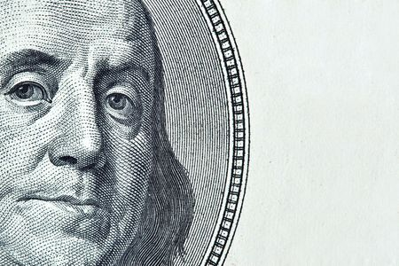 franklin: Benjamin Franklin portrait with added space for your own text