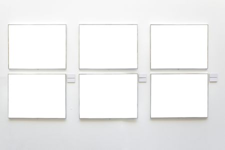Blank frames on the wall at art gallery Stock Photo - 4792457