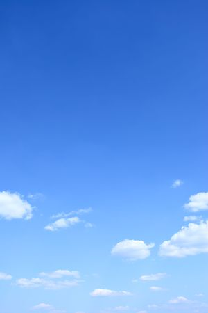blue sky: Blue sky and clouds, may be used as background