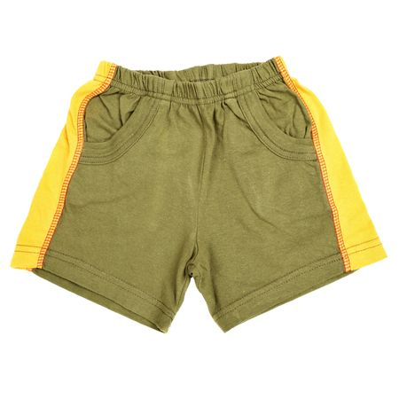 children's wear: Childrens wear - shorts isolated over white background Stock Photo
