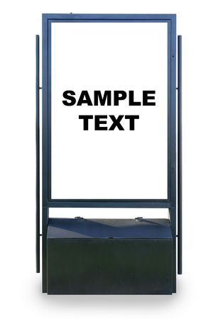 hoarding: Blank advertisement hoarding isolated over white background, put your own text or image herei Stock Photo