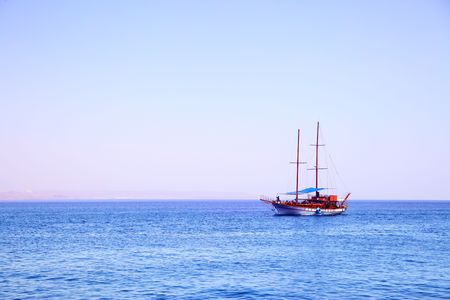 White sailing yacht at the Red sea Stock Photo - 5025806