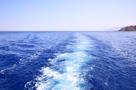 Sea and track from ship, may be used as background Stock Photo - 5025802