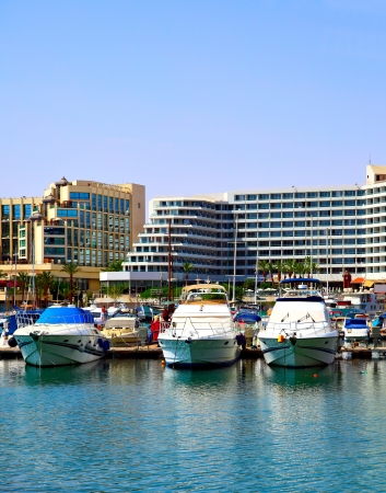 eilat: Hotels and yachts. Eilat. Israel.