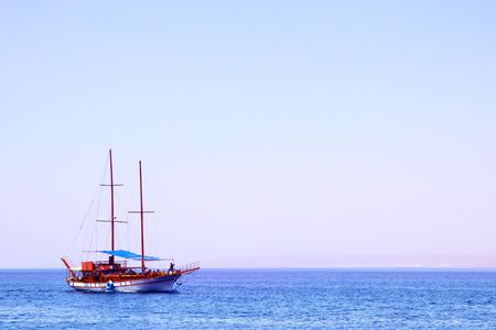 White sailing yacht at the Red sea Stock Photo - 5073234