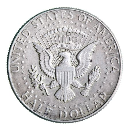 american silver eagle: State Emblem of USA on the half dollar coin Stock Photo