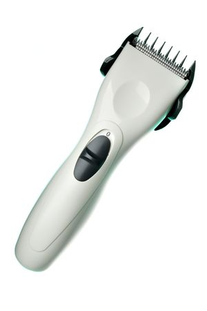 Hair trimmer isolated over the white background photo