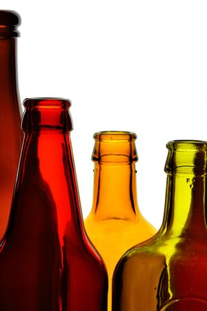 Bottles close-up isolated over white background Stock Photo - 5172591