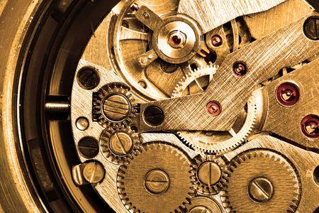 clockworks: Clockwork macro sepia toned