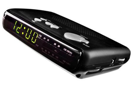 Digital alarm clock radio isolated over white background Stock Photo - 5172621