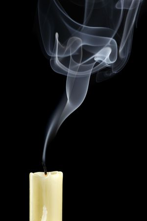 Extinguished candle with smoke (Metaphor of the death) Stock Photo - 5224545