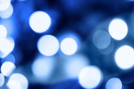 Blue holiday illumination out of focus, may be used as background Stock Photo - 5258767