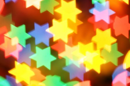 jewish new year: Colorful blurred stars, may be used as background