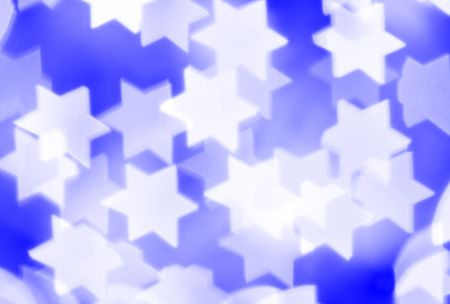 hanukah: Blurred stars, may be used as background