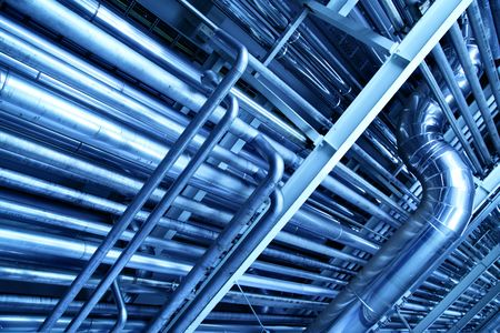 complex system: Tubes, may be used as industrial background